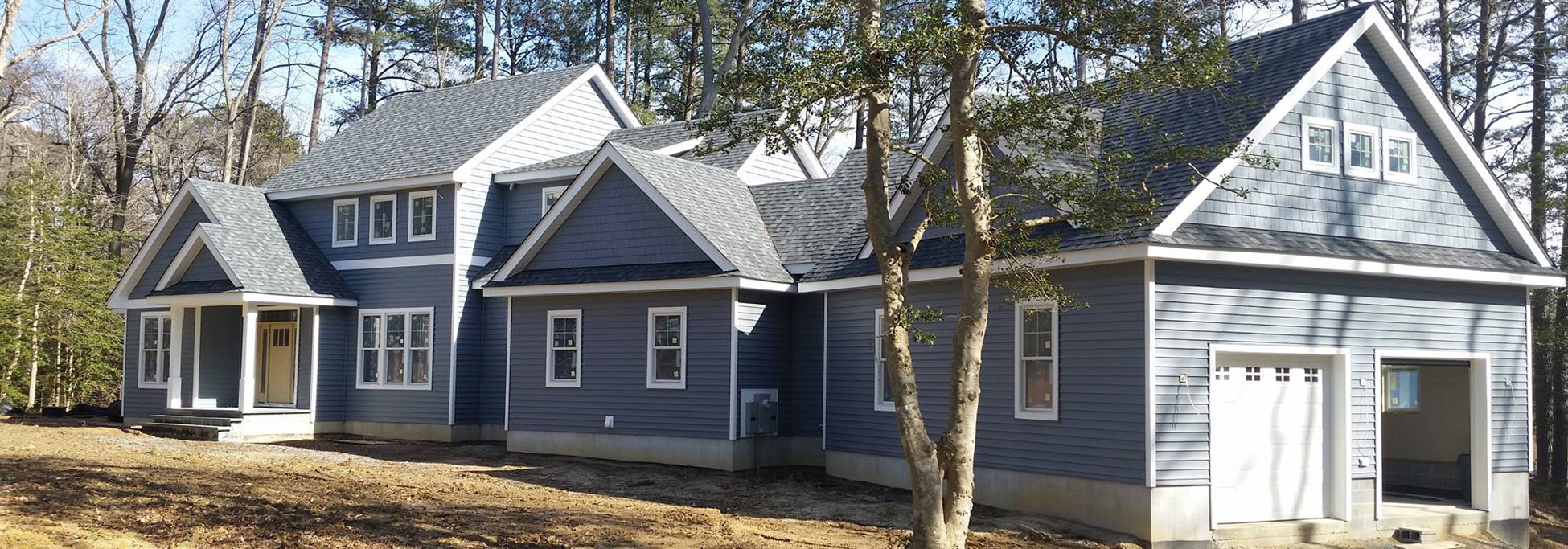 Custom Home with Vinyl Siding