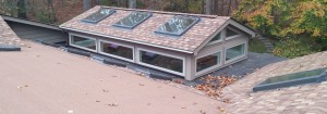 Residential Home with Skylights