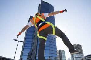roof safety harness and personal fall arrest system