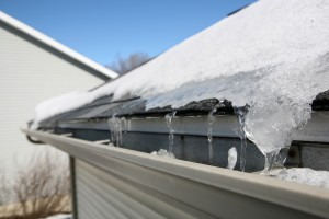 ice buildup in your gutters